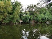 Ήρεμος ποταμός Zbruch στοκ φωτογραφίες με δικαίωμα ελεύθερης χρήσης