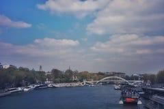 Ήρεμος του Σηκουάνα στο Παρίσι στοκ φωτογραφία με δικαίωμα ελεύθερης χρήσης