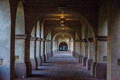 Ήρεμος υπαίθριος διάδρομος στην ανατολή Στοκ Φωτογραφία