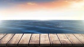 Ήρεμος ωκεανός και ο ουρανός απόθεμα βίντεο