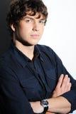 Ήρεμος όμορφος νεαρός άνδρας Στοκ Εικόνες