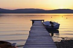 ήρεμο ηλιοβασίλεμα στιγμής Στοκ Εικόνες