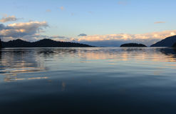 Ήρεμο ηλιοβασίλεμα Στοκ Εικόνες