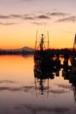 Ήρεμο λιμενικό πρωί, Steveston Στοκ φωτογραφία με δικαίωμα ελεύθερης χρήσης