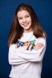 Ήρεμο μικρό κορίτσι brunette Στοκ Εικόνα