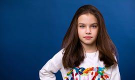 Ήρεμο μικρό κορίτσι brunette Στοκ φωτογραφίες με δικαίωμα ελεύθερης χρήσης