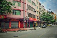 Ήρεμο πρωί πριν από την πολυάσχολη ημέρα στη βιομηχανική περιοχή Zhangtanwu Στοκ εικόνα με δικαίωμα ελεύθερης χρήσης