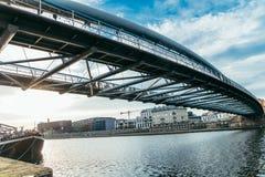 Ήρεμο πρωί Wisla στον ποταμό Στοκ Εικόνα