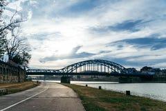 Ήρεμο πρωί Wisla στον ποταμό Στοκ Εικόνες