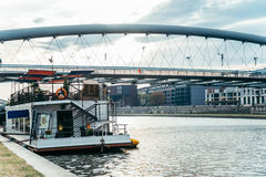 Ήρεμο πρωί Wisla στον ποταμό Στοκ εικόνες με δικαίωμα ελεύθερης χρήσης