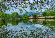Ήρεμο χωριό που ονομάζεται τη Hong Cun, κινεζικός αρχαίος στοκ εικόνες
