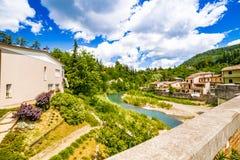 Ήρεμο χωριό στους λόφους Romagna στοκ φωτογραφίες