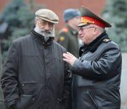 Ήρωας της Σοβιετικής Ένωσης και ήρωας της Ρωσικής Ομοσπονδίας Artur Chilingarov και του Υπουργού των εσωτερικών θεμάτων της Ρωσία Στοκ Εικόνες