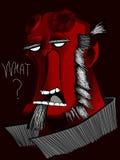 Ήρωας χαρακτήρα κινουμένων σχεδίων κινηματογράφων Hellboy comix Στοκ φωτογραφίες με δικαίωμα ελεύθερης χρήσης