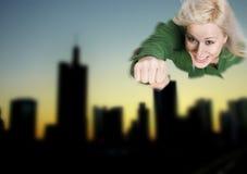 ήρωας superwoman Στοκ φωτογραφίες με δικαίωμα ελεύθερης χρήσης
