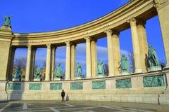 Ήρωες τετραγωνική Βουδαπέστη Στοκ Φωτογραφίες