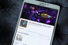 Ήρωες Hearthstone του παιχνιδιού app Warcraft Στοκ Φωτογραφίες