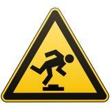 Ήσυχο εμπόδιο προσοχής Σήμανση ασφάλειας Μέτρα για να αποτραπεί ο κίνδυνος στον εργασιακό χώρο Κίτρινο σημάδι τριγώνων με το Μαύρ απεικόνιση αποθεμάτων