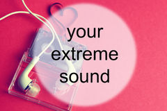 Ήχος υποβάθρου κασετών ηχογράφησης Στοκ φωτογραφία με δικαίωμα ελεύθερης χρήσης