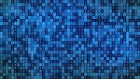 01 ή δυαδικοί αριθμοί στη οθόνη υπολογιστή στο υπόβαθρο μητρών οργάνων ελέγχου, τον κώδικα ψηφιακών στοιχείων στο χάκερ ή την ασφ διανυσματική απεικόνιση