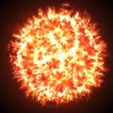 Ήλιος ή βολίδα διανυσματική απεικόνιση
