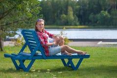 Ήλιος, αέρας και νερό - οι καλύτερες διακοπές Στοκ Εικόνες