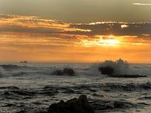 Ήλιος αλιευτικών σκαφών και ρύθμισης Στοκ Εικόνα