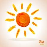 ήλιος επίσης corel σύρετε το διάνυσμα απεικόνισης Στοκ Εικόνα