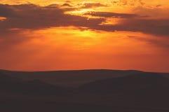 Ήλιος, ηλιοβασίλεμα, ανατολή Ζωηρόχρωμη τονισμένη στιγμιαία φωτογραφία Στοκ Εικόνες