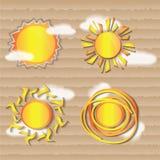 Ήλιος καιρικών εικονιδίων Απεικόνιση αποθεμάτων