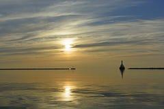 Ήλιος και ηρεμία το βράδυ Στοκ φωτογραφίες με δικαίωμα ελεύθερης χρήσης