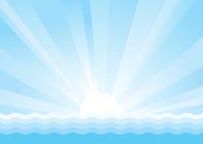 Seascape υπόβαθρο Στοκ Εικόνα