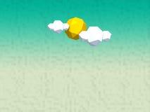 Ήλιος και σύννεφα Στοκ φωτογραφία με δικαίωμα ελεύθερης χρήσης