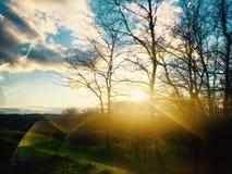 Ήλιος και σύννεφα Στοκ Φωτογραφίες