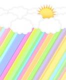 Ήλιος και σύννεφο Στοκ εικόνα με δικαίωμα ελεύθερης χρήσης