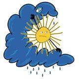 Ήλιος και σύννεφο Στοκ Εικόνες