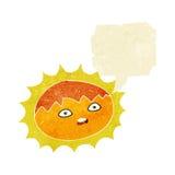ήλιος κινούμενων σχεδίων με τη λεκτική φυσαλίδα Στοκ εικόνα με δικαίωμα ελεύθερης χρήσης