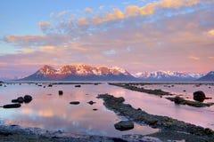 Ήλιος μεσάνυχτων Στοκ Φωτογραφίες