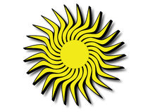 Ήλιος με τις μαύρες άκρες Στοκ φωτογραφία με δικαίωμα ελεύθερης χρήσης