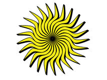 Ήλιος με τις μαύρες άκρες Στοκ εικόνα με δικαίωμα ελεύθερης χρήσης