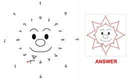 Ήλιος - παιχνίδι σημείων διανυσματική απεικόνιση