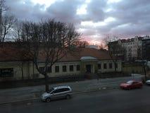 Ήλιος που πηγαίνει κάτω Στοκ εικόνες με δικαίωμα ελεύθερης χρήσης