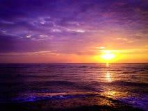 ήλιος που τίθεται στην Ταϊλάνδη Στοκ Εικόνα