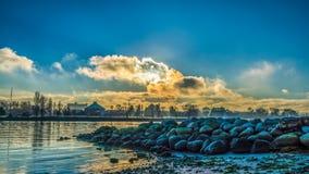 Ήλιος στα σύννεφα στοκ εικόνες
