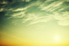 Ήλιος στον ουρανό Στοκ Φωτογραφίες