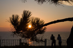 Ήλιος στο ηλιοβασίλεμα Στοκ φωτογραφίες με δικαίωμα ελεύθερης χρήσης