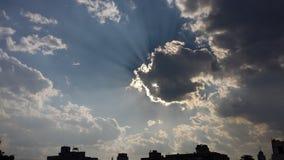 Ήλιος & σύννεφα Στοκ Φωτογραφίες