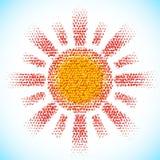 Ήλιος φιαγμένος από διεσπαρμένες σφαίρες Στοκ Φωτογραφίες