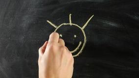 Ήλιος smiley σχεδίων απόθεμα βίντεο