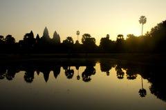 Ήλιος Wat Angkor Στοκ Φωτογραφίες